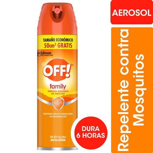 Repelente Para Mosquitos Off! Family Aerosol 290cc