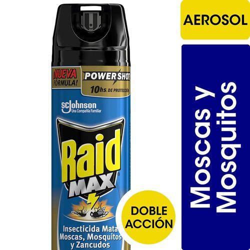 Insecticida Raid Max Mata Moscas Y Mosquitos En Aerosol 370cc