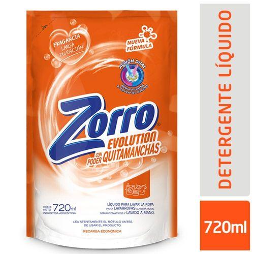 Det. Líq Zorro Evolution Dp 720ml