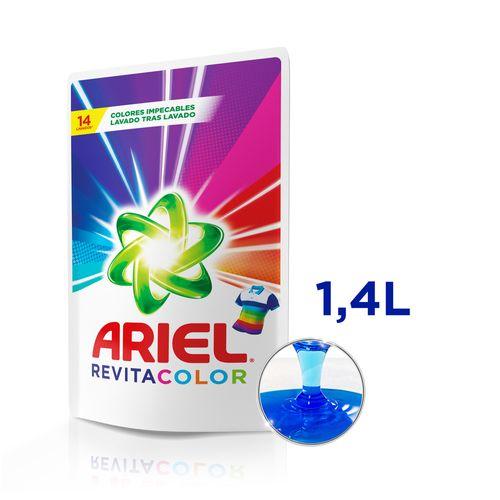 Jabón Líquido Ariel Revitacolor Recarga 1,4 L