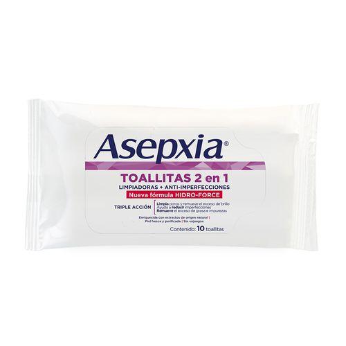 Toallitas Hum Asepxia Hydro Force 10 U